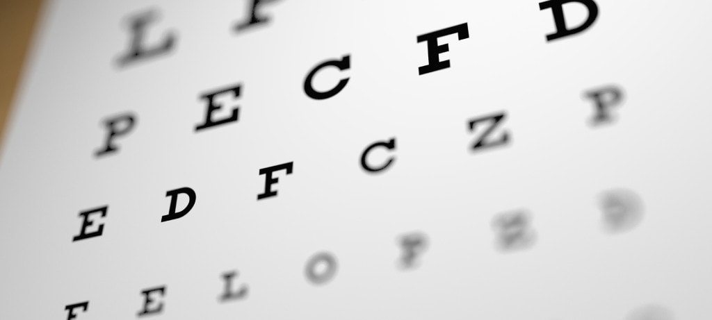 Eye testing chart and help with vision quality