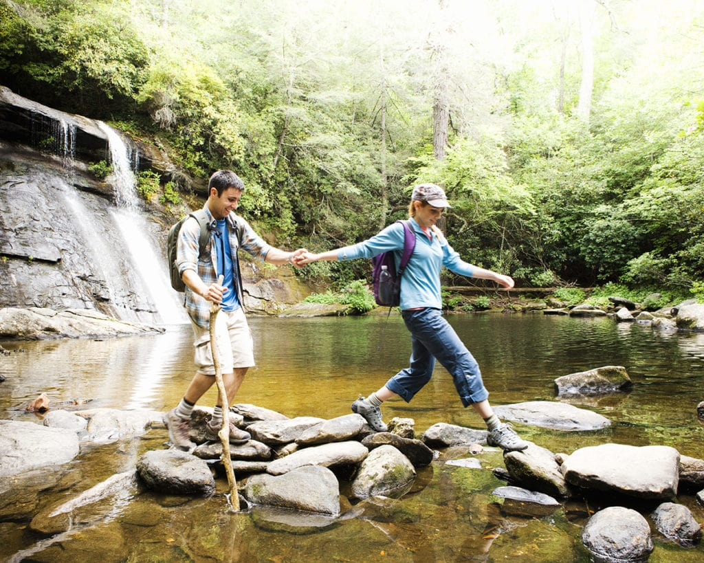 Hiking across a river one experience after LASIK