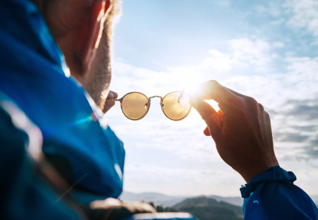 Sunglasses for eye and vision protection